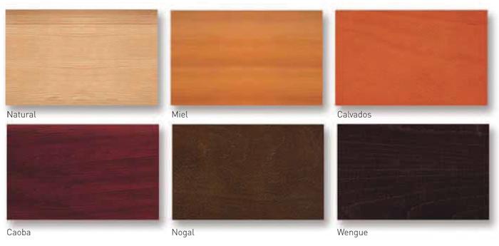 Colores mesa madera pino