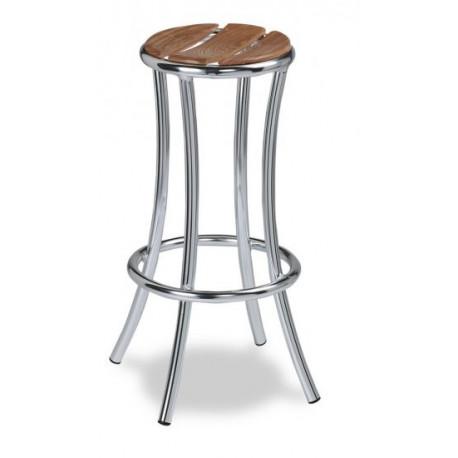 Taburte aluminio asiento teka