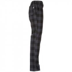 Pantalon Cocina estampado cuadros negro/gris