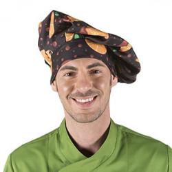 Gorro cocinero estampado naranjas
