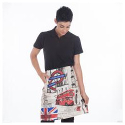 DELANTAL BARMAN ESTAMPADO LONDON