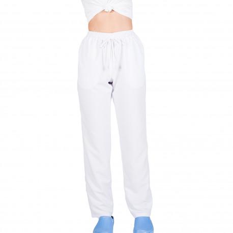 Pantalon unisex microfibra blanco