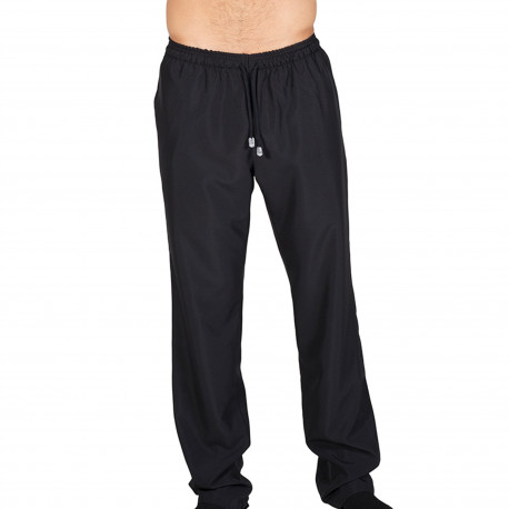 Pantalon unisex microfibra negro