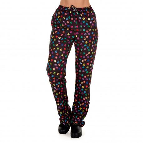 Pantalon unisex microfibra Huellas negras