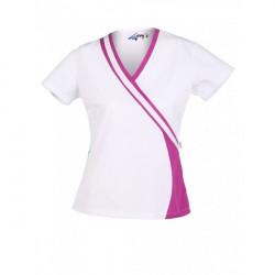 blusa sanitaria señora blanco combinado