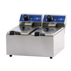 Freidora eléctrica sobremesa FRY8+8 inox