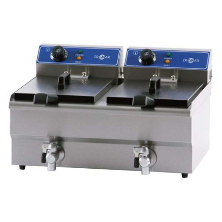 Freidora eléctrica sobremesa FRY9+9 inox